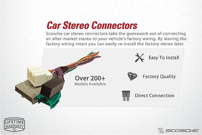 amazon com scosche gm01rb 1973 91 gm power speaker connector