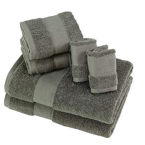 SUMC Juego de toallas con 2 toallas de baño 2 toallas de mano y 2 paños