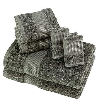 SUMC Juego de toallas con 2 toallas de baño 2 toallas de mano y 2 paños ...