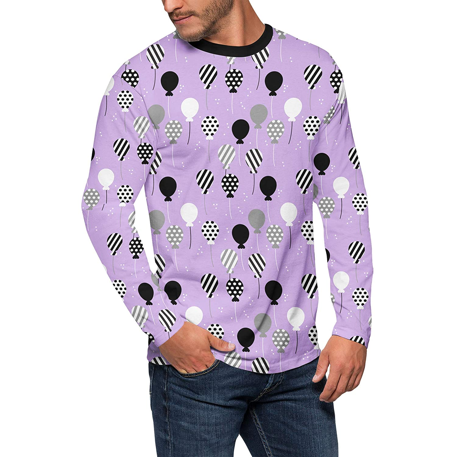 Queen of Cases Party Balloons Mens Longsleeve Tee