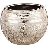 "Napco Ceramic Gold Flower Ball Planter, 7.75"""