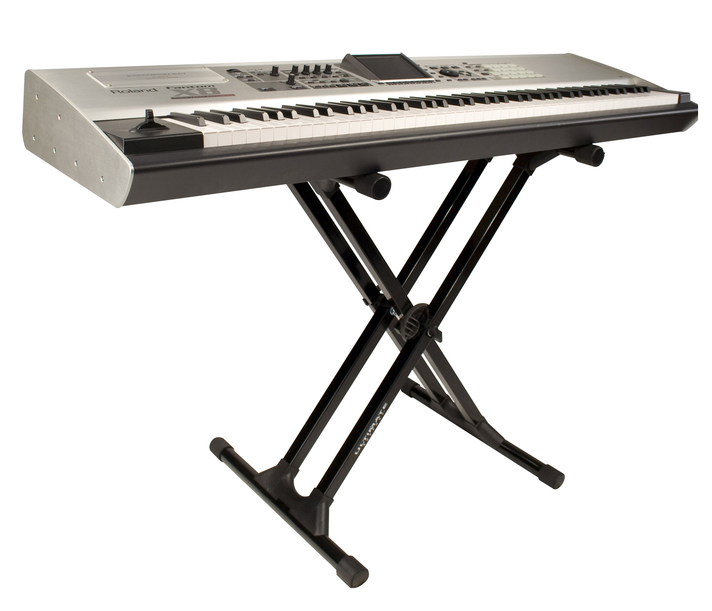 Ultimate Support IQ-3000 X-style Keyboard Stand with Nine Height Settings, Stabilizing End Caps, and Extra-strength Tubing
