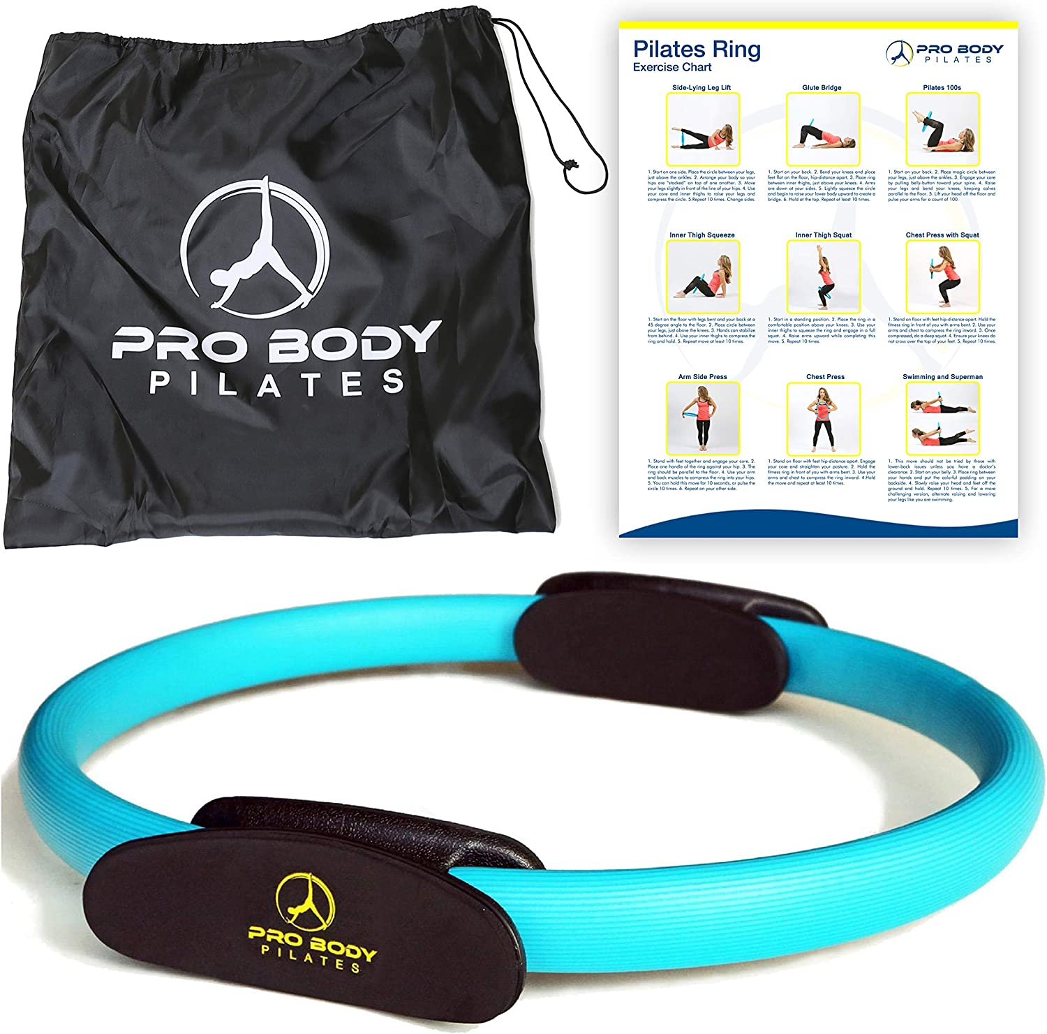 Pilates Ring Superior Unbreakable Fitness Magic Circle For Toning Thighs Abs And Legs Blue Sports Outdoors