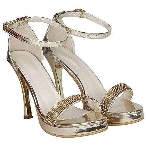 e9c77c4bc MISTO VAGON Women and Girls Sandals Heels Sandals Formal Sandals Cone Heel Sandals  Bridal Sandals Sandals HIGH Heel Sandals Sandals with HIGH Heels and Hand  ...