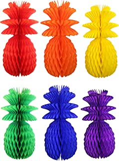 product image for Set of 6 Rainbow 13 Inch Pineapple Decorations