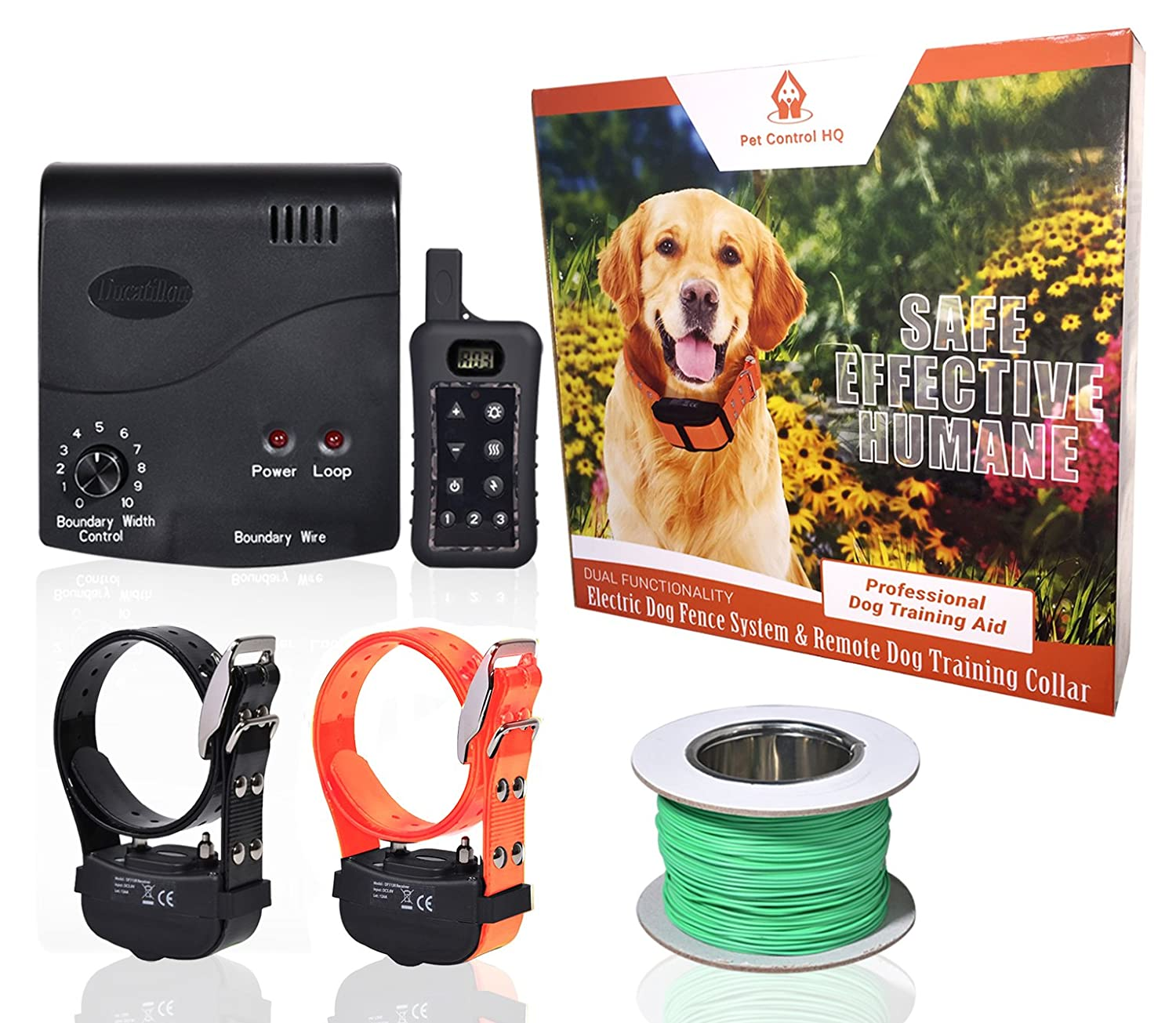 Amazon.com : Wireless Combo Electric Dog Fence System with Remote ...