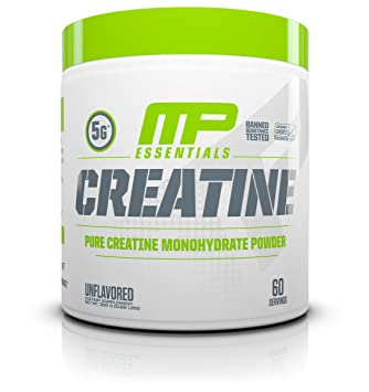 MP Essentials Micronized Creatine, Ultra-Pure 100% Creatine Monohydrate  Powder, Muscle-