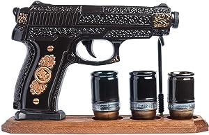 MILITARY GIFT_DECANTER for vodka whiskey brandy alcohol Bottle like GUN PISTOL_Warrior's Decanters