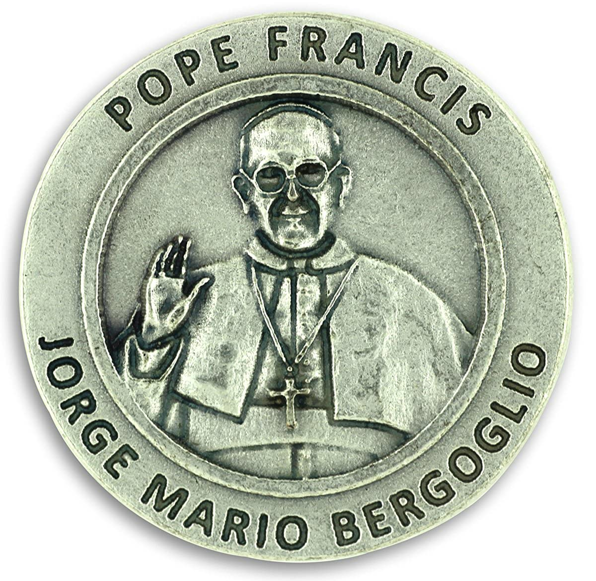Pope Francis Pray for Us Pocket Token Coin Charm 1.2 Catholic PT1053