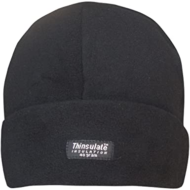 Ladies Thinsulate 40 Gram Polar Fleece Lined Outdoors Thermal Winter Hat  (Black)  Amazon.co.uk  Clothing afd4f07f2e7