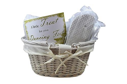 9f76f5b6347 Modo Wedding Party Flip Flops in Wicker Basket - 20 Pairs  Amazon.co ...