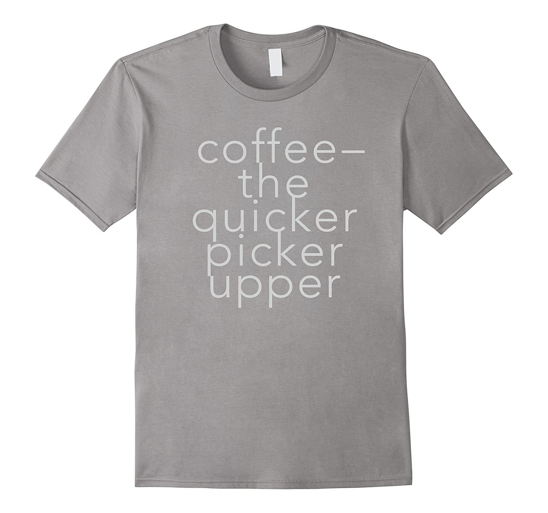 Coffee Slogan Silver Text Tee Shirt for Men & Women-TH