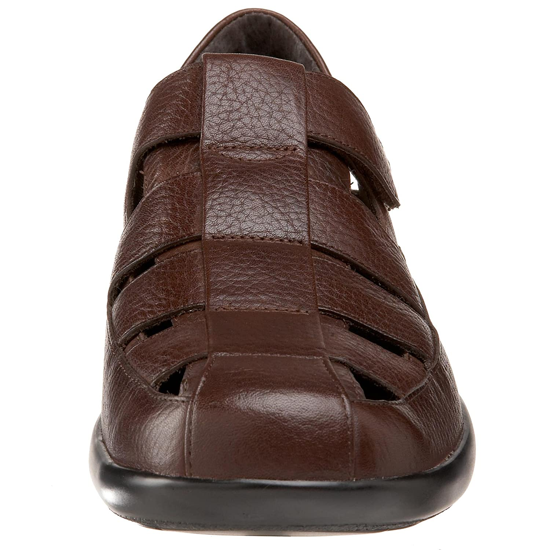 993ad495bf596b Aetrex Mens Gramercy Fisherman Sandal Brown Size  10 Mens us  Amazon.co.uk   Shoes   Bags