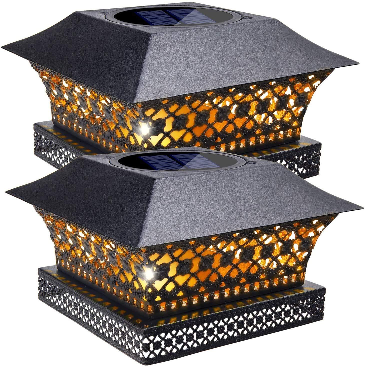Siedinlar Solar Post Lights Outdoor Fence Deck Cap Light