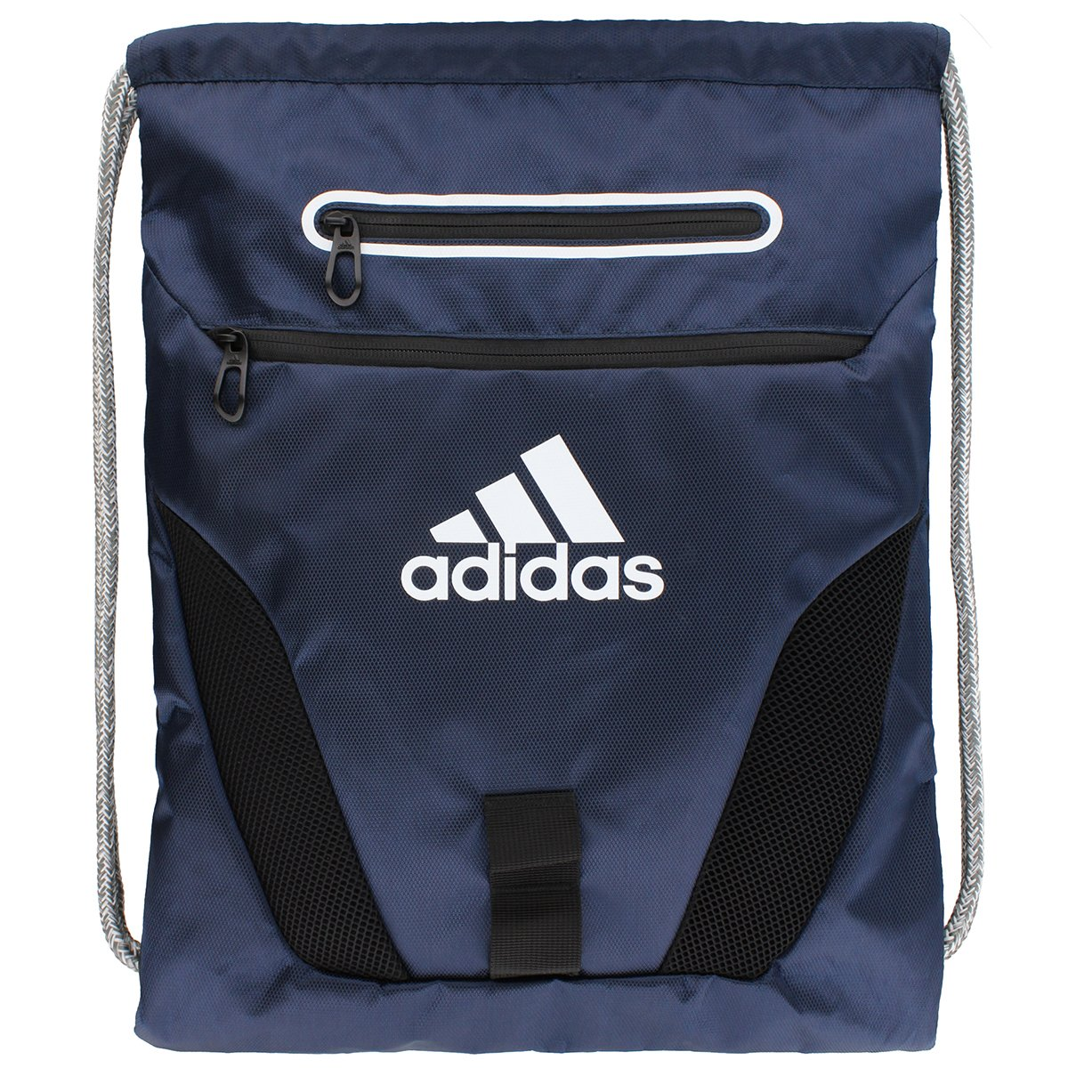 adidas Rumble Sack Pack, One Size, Collegiate Navy/White/Black/Heather Cording