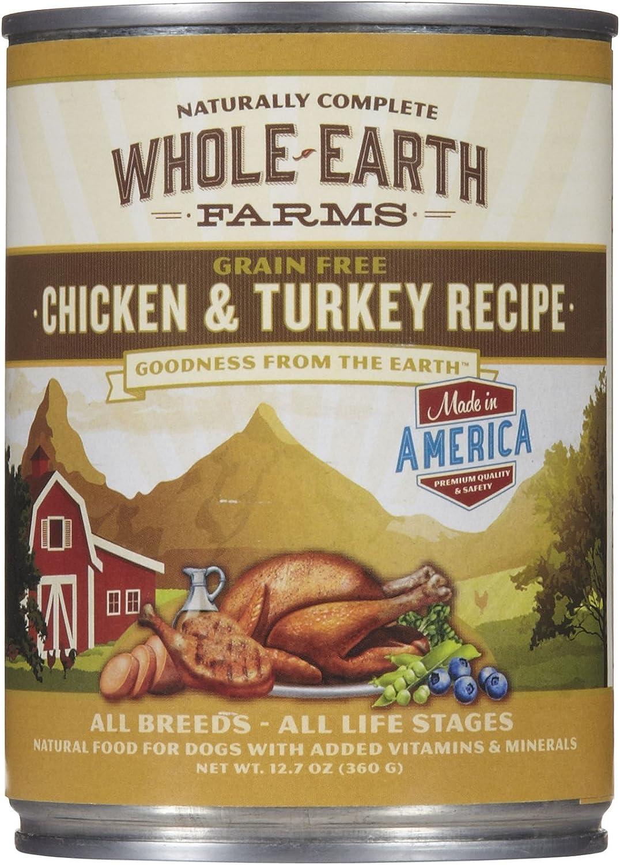 Merrick Whole Earth Farms Chicken/Turkey Can Dog Food 12pk