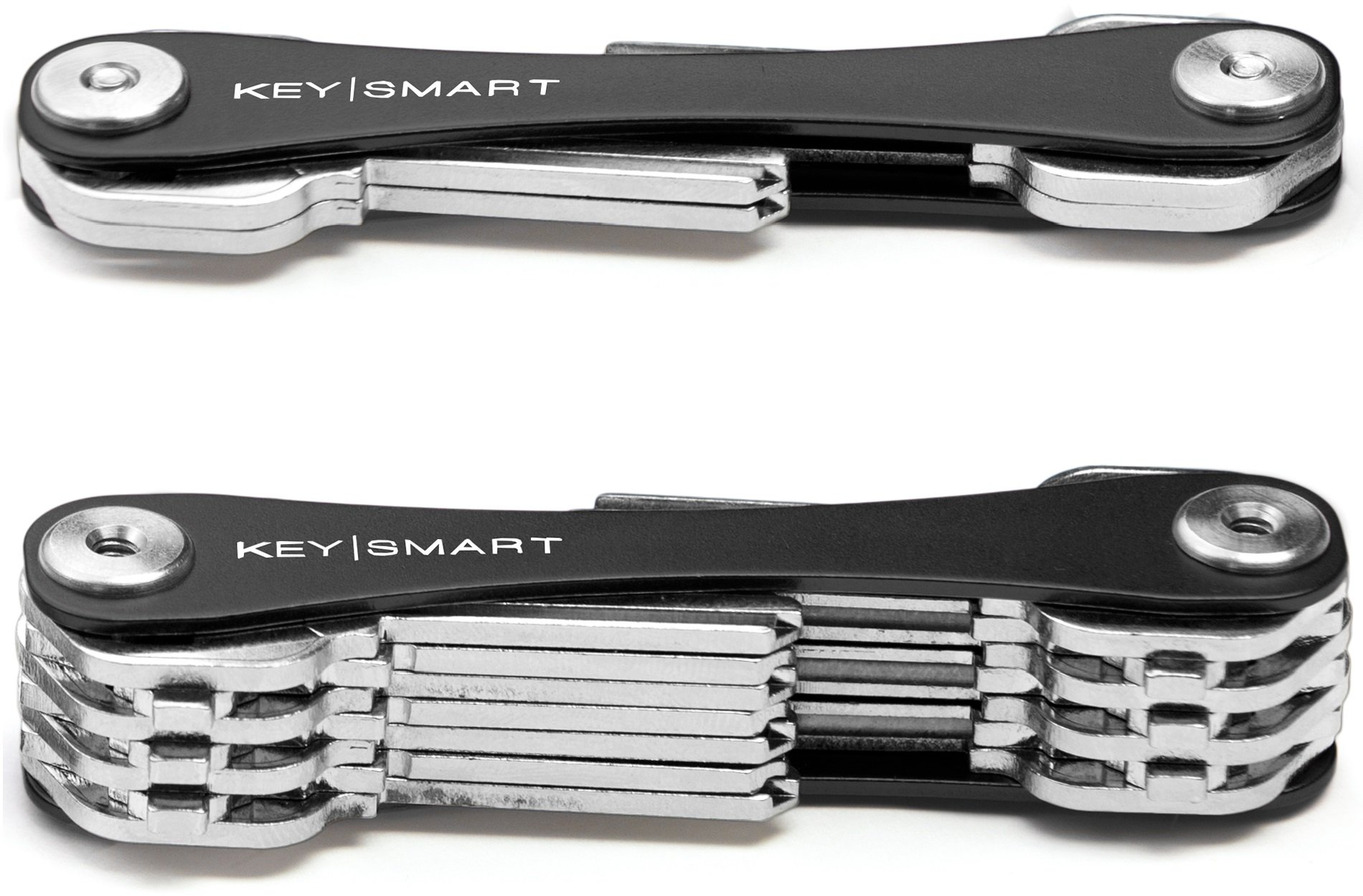 KeySmart - Compact Key Holder and Keychain Organizer (up to 22 Keys, Black)