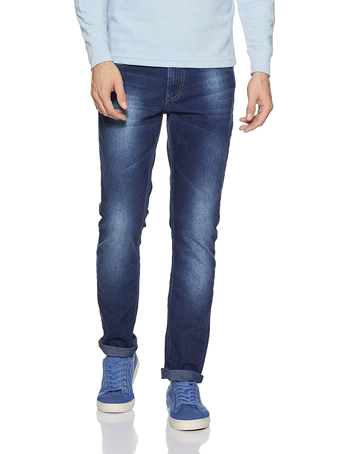 47b56e5ef08 Spykar Men s (Rover) Slim Fit Narrow Leg Jeans  Amazon.in  Clothing    Accessories