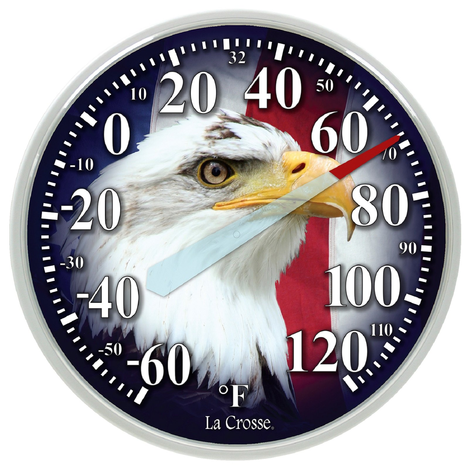 La Crosse 13.5'' Dial Outdoor Thermometer - Eagle