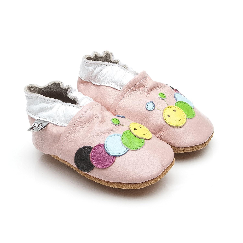 Morbida Cuoio Bambino Calzature Bruco Rosa 6-12 mese