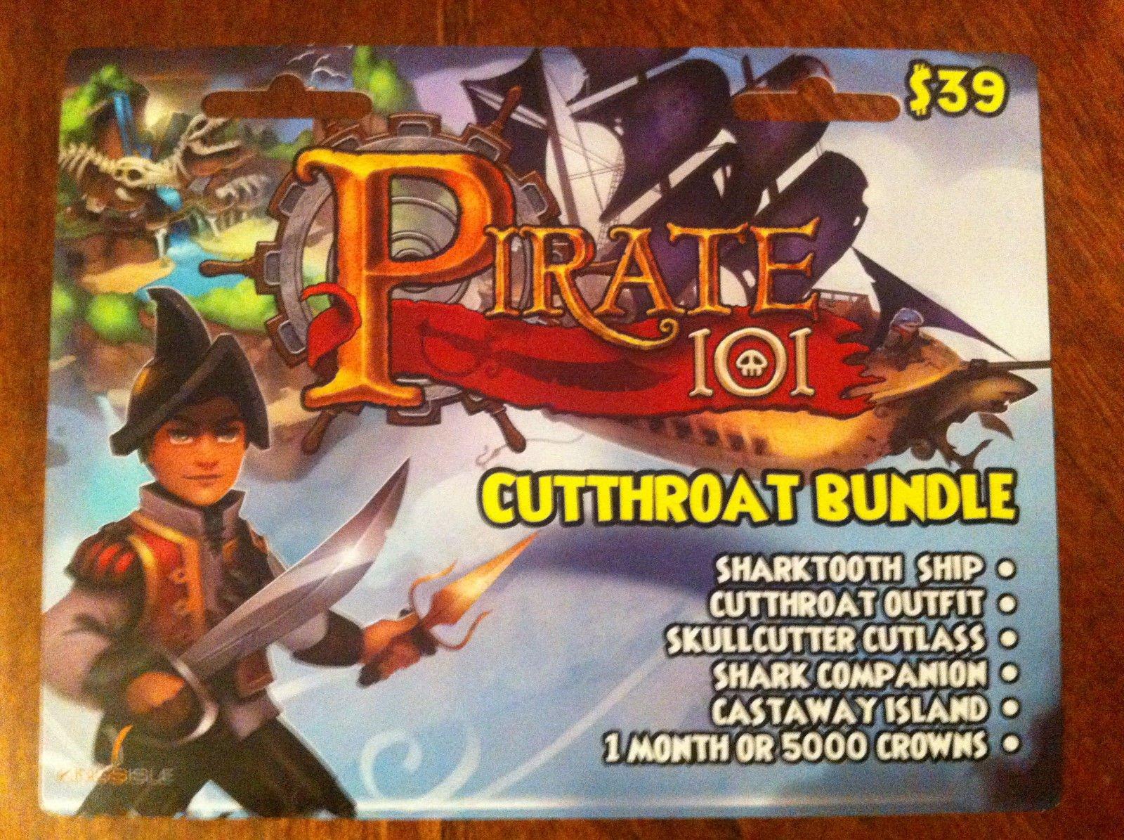 Amazon com: Pirate 101 Cutthroat Bundle Prepaid Game Card