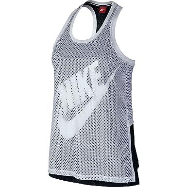 0cffd8576d921f Nike Mesh Women s Tank Top Athletic White Black 726108-100 (Size 4X ...