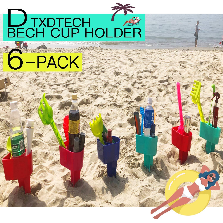 Amazoncom Dtxdtech Beach Cup Holder Multifunction Beach Cup Holder