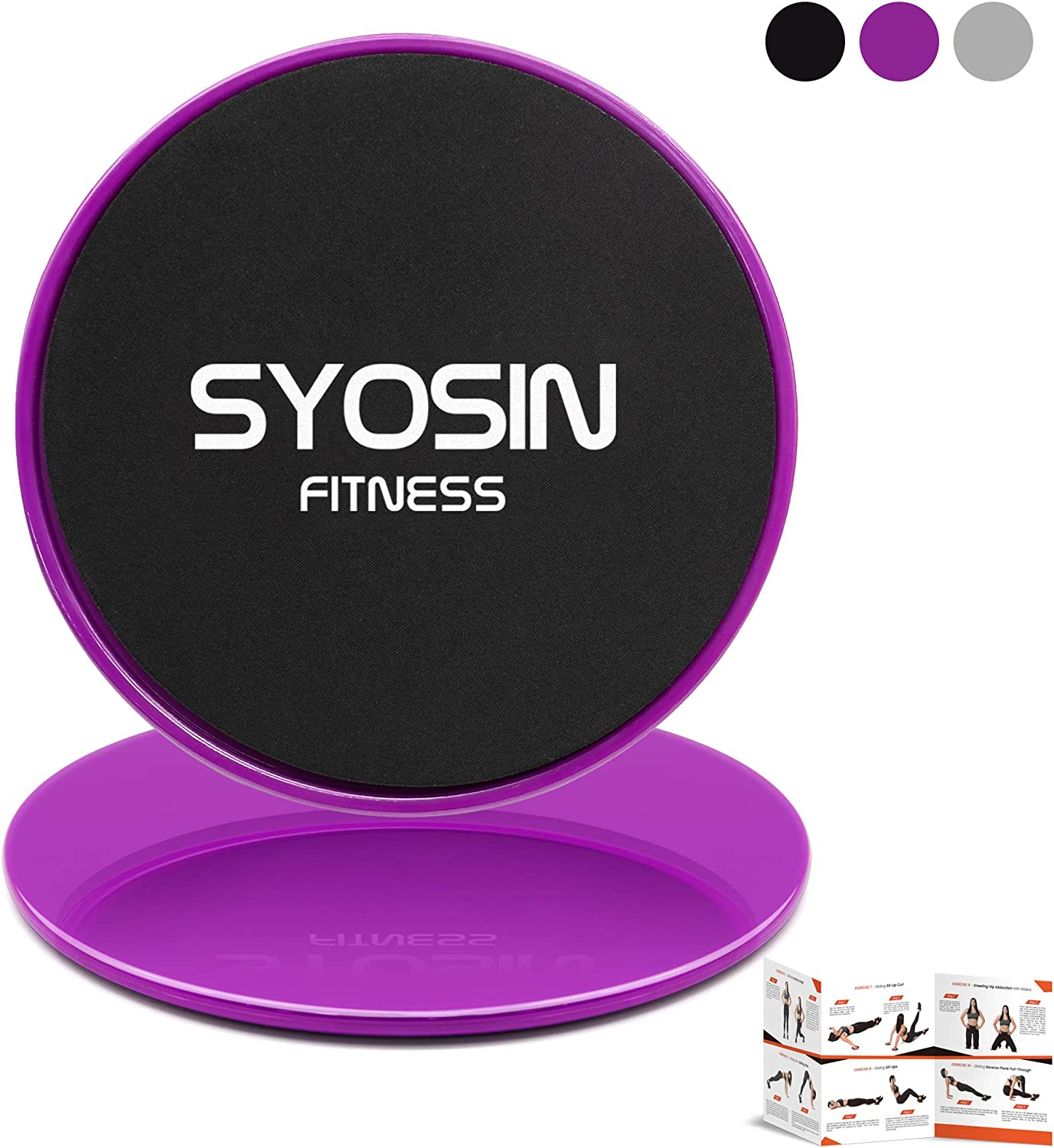 Pilates Yoga 2 Pack Dual Disks Sliders Fitness Sliders Ideal for Gym Strengthen Abdominal Body Building Home Burn Fat YUHENGLE Exercise Core Sliders Improve Balance