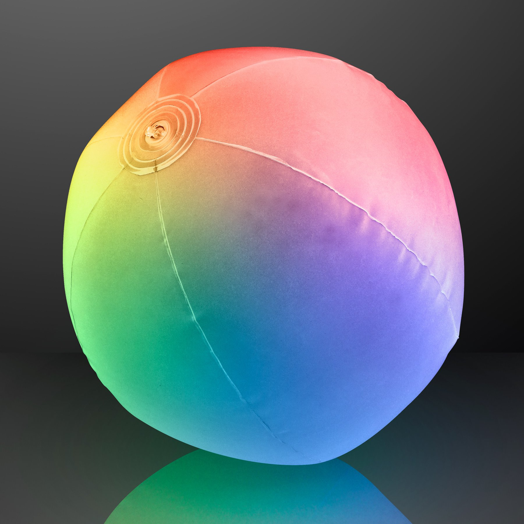 Light Up Beach Ball with Color Changing LED Lights (Set of 12) by FlashingBlinkyLights
