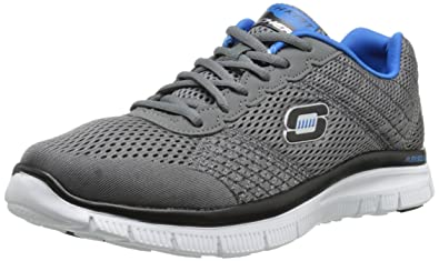 Skechers Sport Men's Flex Advantage Covert Action Oxford,Charcoal/Blue,7 ...