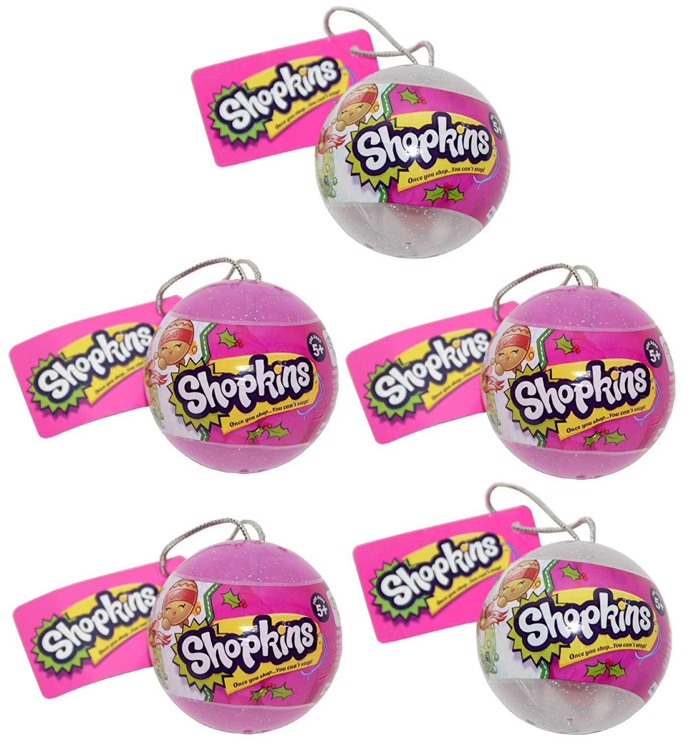 5 Shopkins Christmas Bauble Toys
