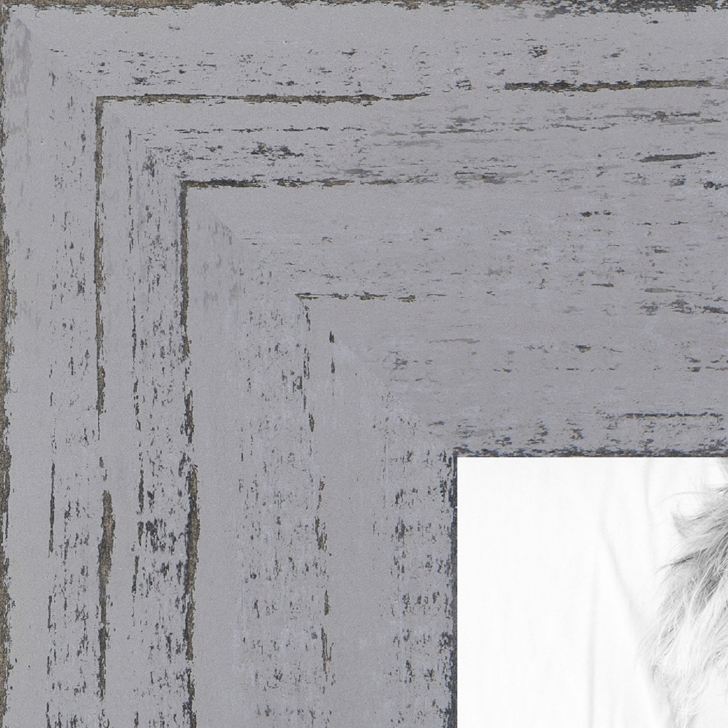 ArtToFrames 8x12 inch Weathered Barnwood in Saturated Grey Wood Picture Frame, WOMSM-ECO150-GRY-8x12