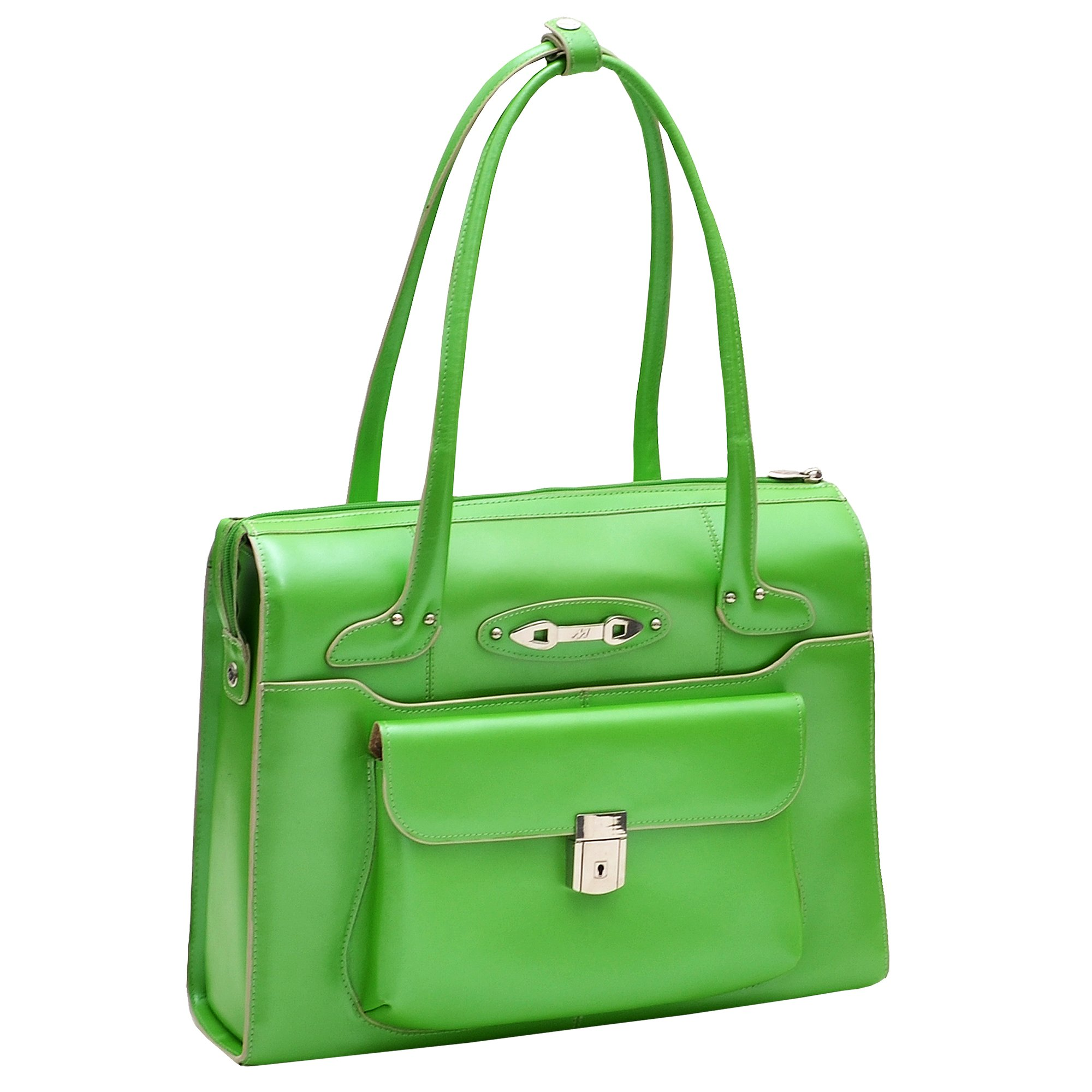 McKleinUSA WENONAH 96661 Green Leather Ladies' Briefcase by McKleinUSA