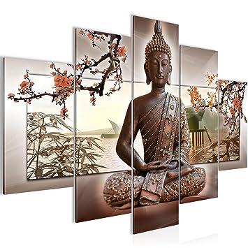 Bilder Buddha Feng Shui Wandbild 150 x 100 cm Vlies - Leinwand Bild ...