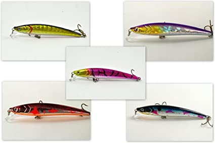 12 Bass Fishing Plug Crankbait  Lures  Injured Minnow Shallow Dive Bait Fish