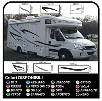 Motorhome stripes stickers for camper graphics vinyl stickers decals set camper van rv caravan motorhome