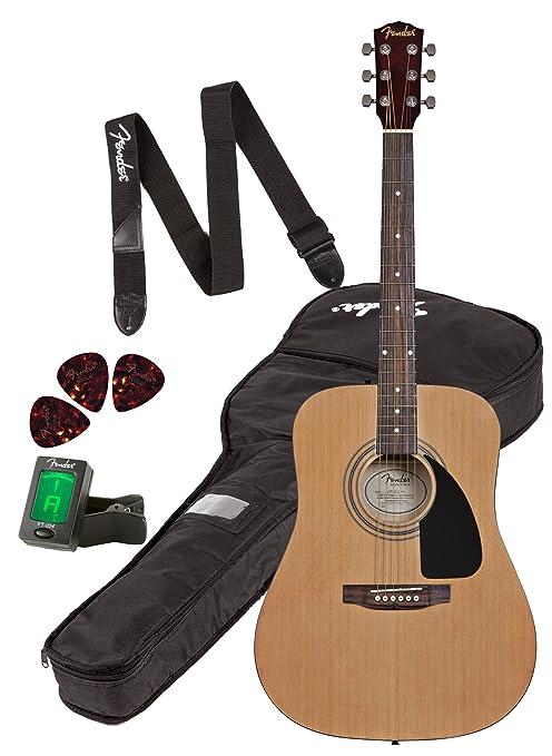 Fender FA-100 Dreadnought Guitarra Acústica Pack,