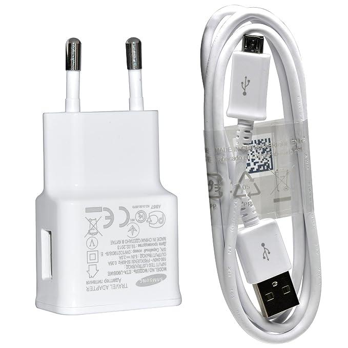 Samsung - Original samsung s4 i9500 cargador blanco eta u90e 2 amperios ac adaptador + cable usb + exclusivo vitho® paño de pulido