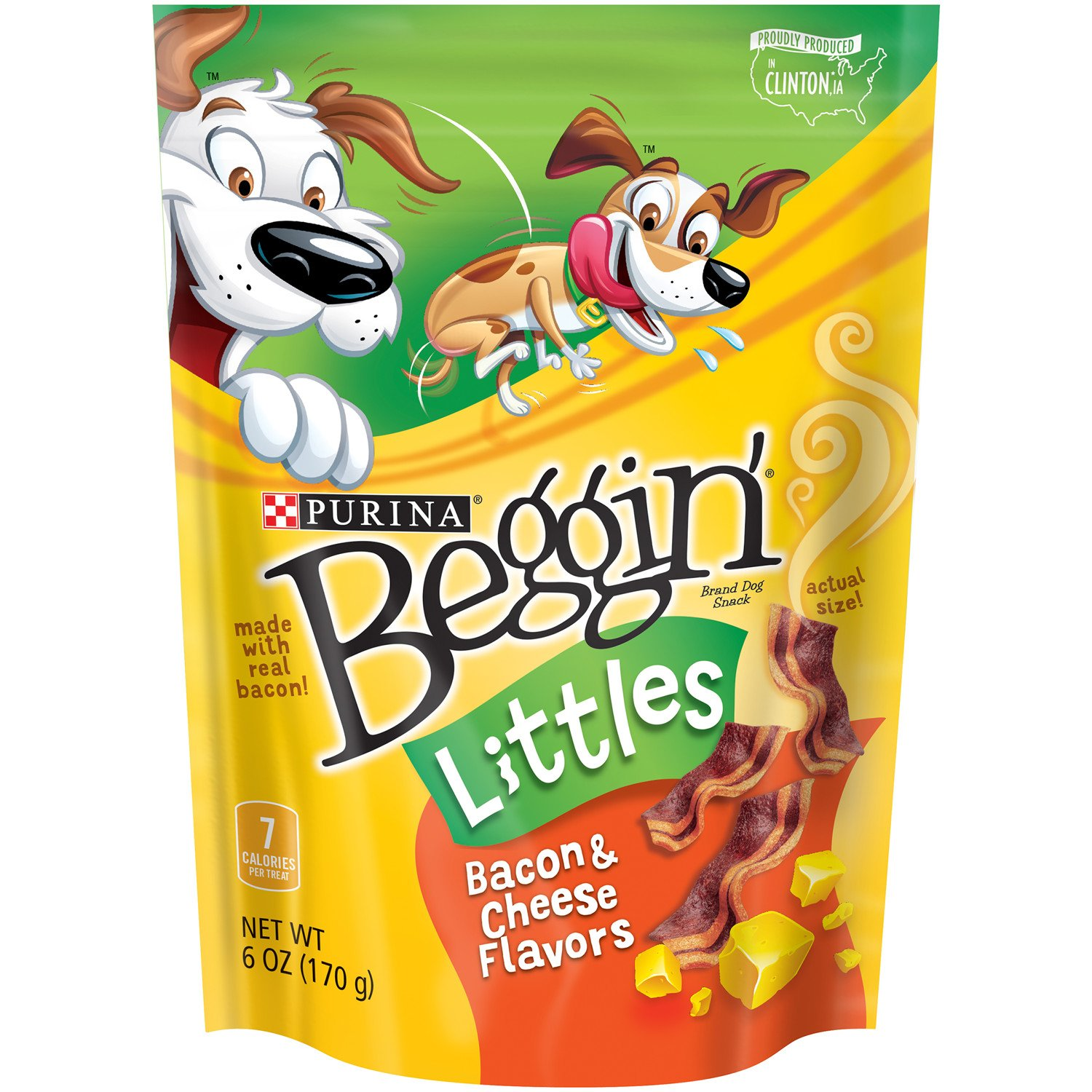 Purina Beggin' Littles Bacon and Cheese Dog Treats 6 oz. Pouch - Pack of 6