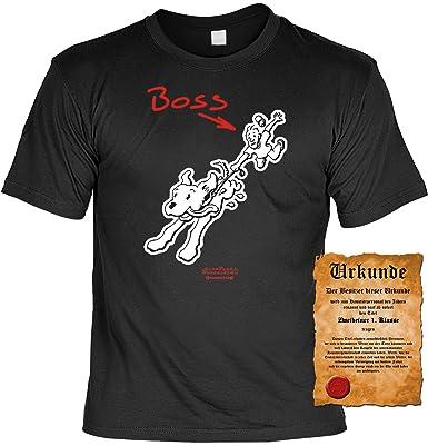 Lustige Spruche T Shirt Tiere Hunde Spruche Hundeboss Grosse Xl