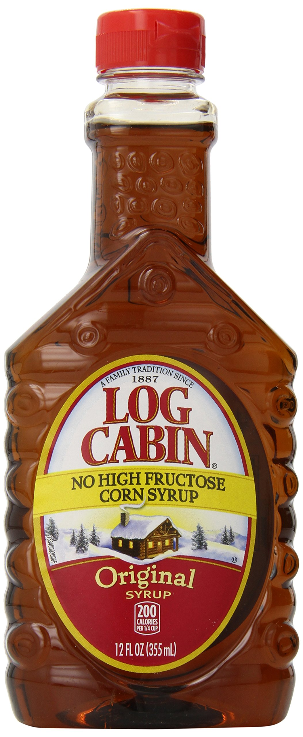 Log Cabin Syrup, Original, 12 Ounce (Pack of 12)