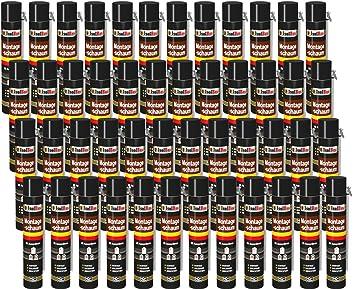Espuma de montaje 48 lata 750 ml con aussprührohr 1 K Diseño Espuma de espuma de poliuretano adaptador Espuma: Amazon.es: Bricolaje y herramientas