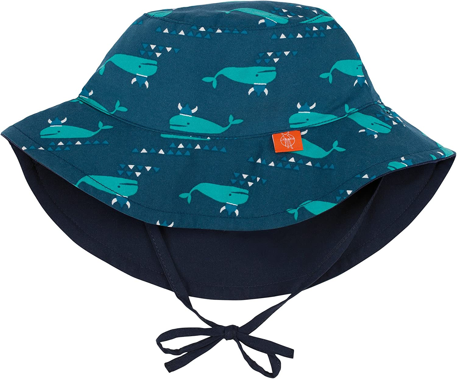 6-18-Month Lassig Baby Sun Protection Bucket Hat UV-Protection 50 Plus-Polka Dots Navy Size Infant