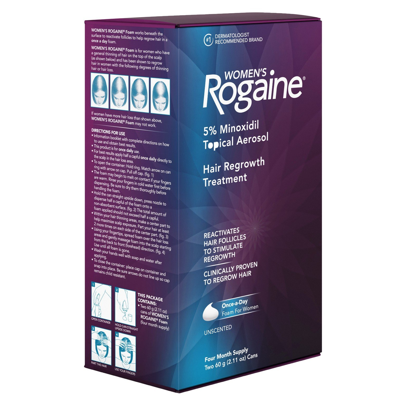 Women's Rogaine Hair Regrowth Treatment Foam, 4 Month Supply