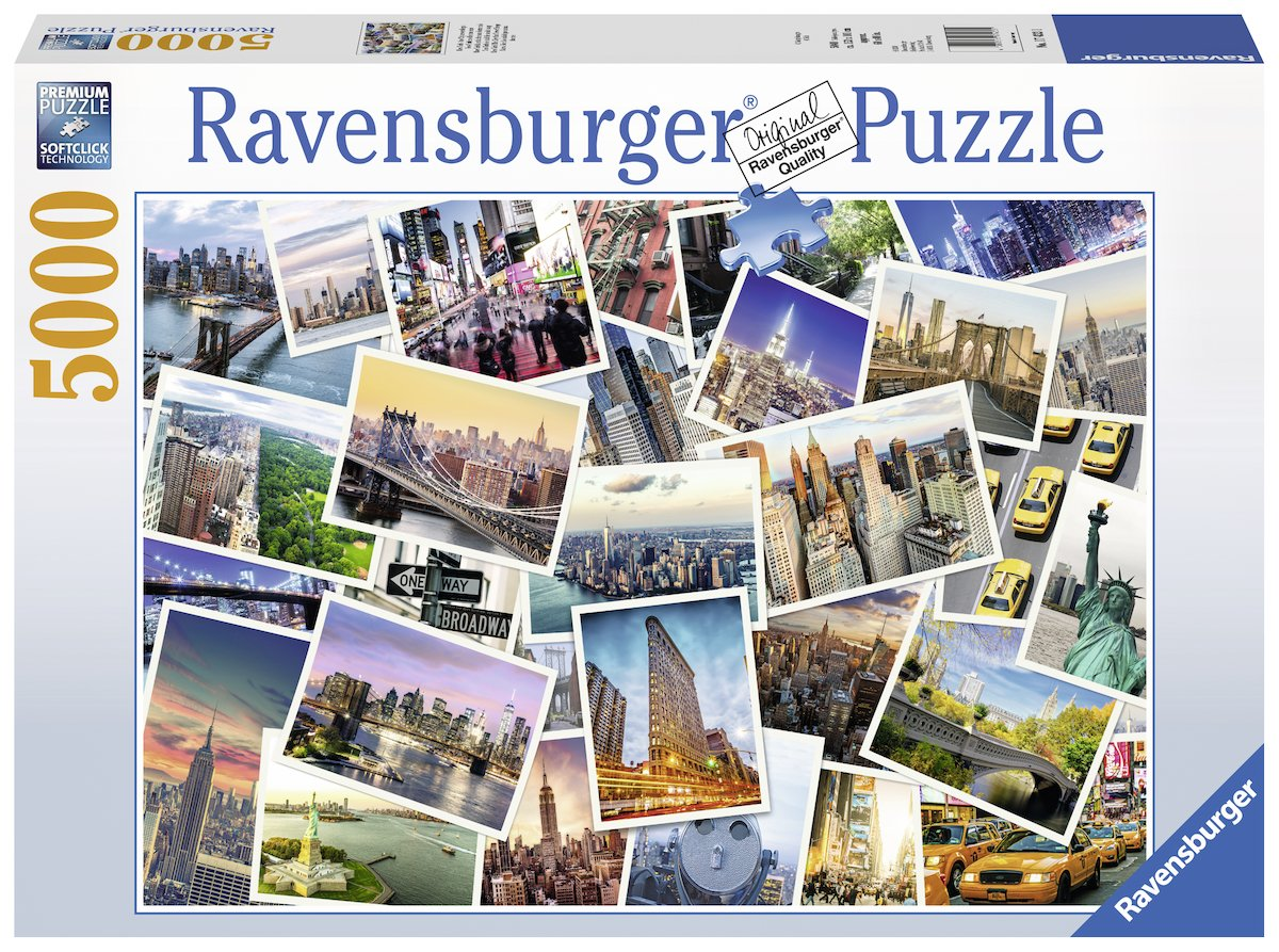 品質保証 Ravensburger New New York Ravensburger、5000pcジグソーパズル B077TSX8L2, 四季彩園:96bf883d --- a0267596.xsph.ru