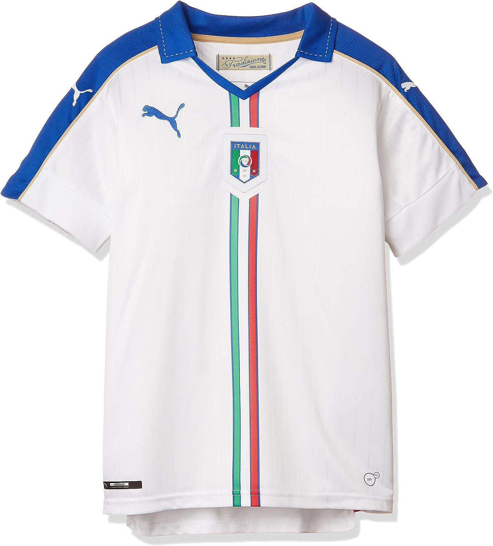 PUMA FIGC Italia Kid Away Replica Maglietta da Ragazzo
