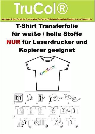 25 Hojas de Papel de Transferencia A4 Camiseta película de ...