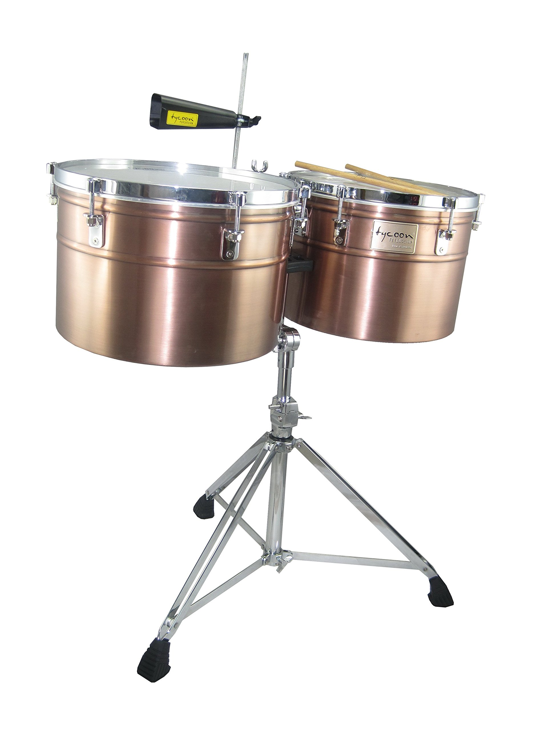 Tycoon 14'' & 15'' Extra-Deep Shell Timbales - Antique Copper Finish by Tycoon Percussion
