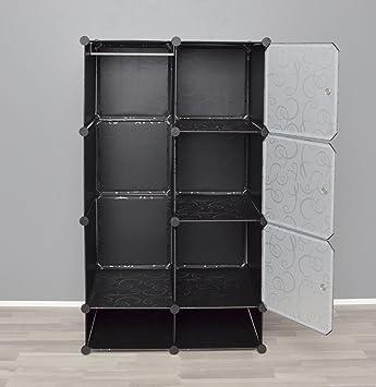 armadio guardaroba completo di scarpiera mobiletto da bagno armadio da cameretta nero