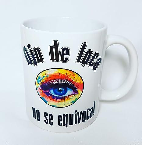 personalitity Taza Ojos DE Loca: Amazon.es: Hogar